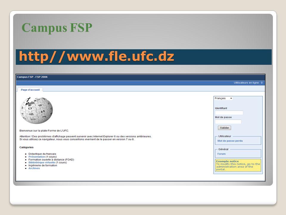 Campus FSP http//www.fle.ufc.dz