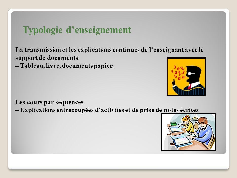 Typologie d'enseignement