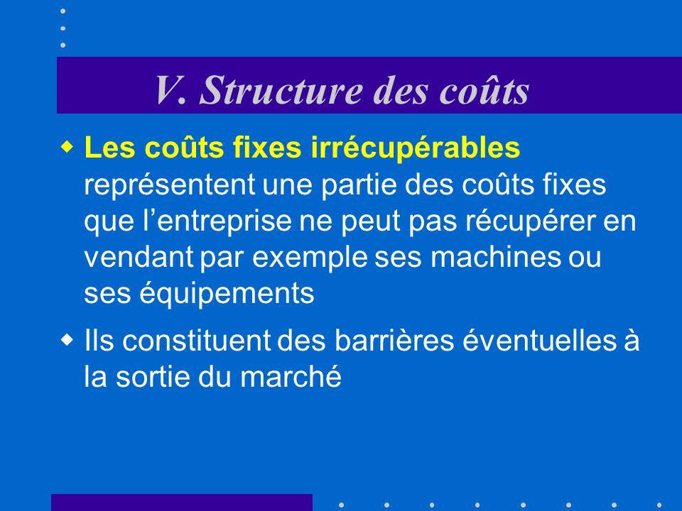 V. Structure des coûts