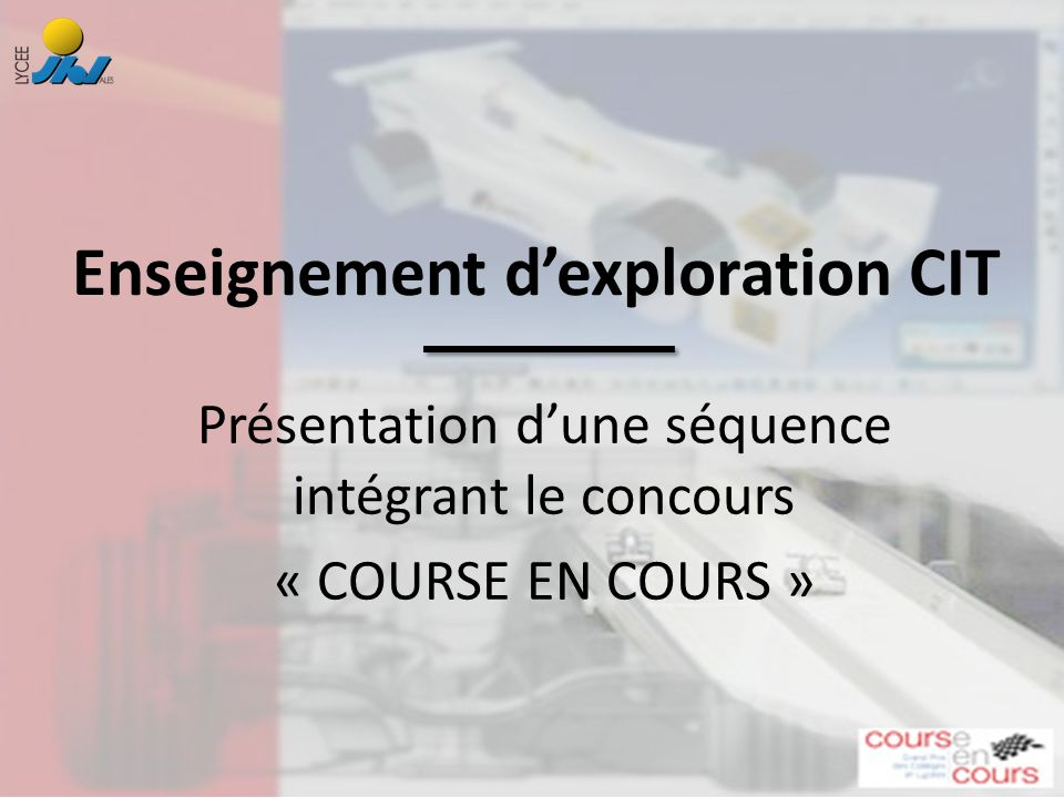 Enseignement d'exploration CIT