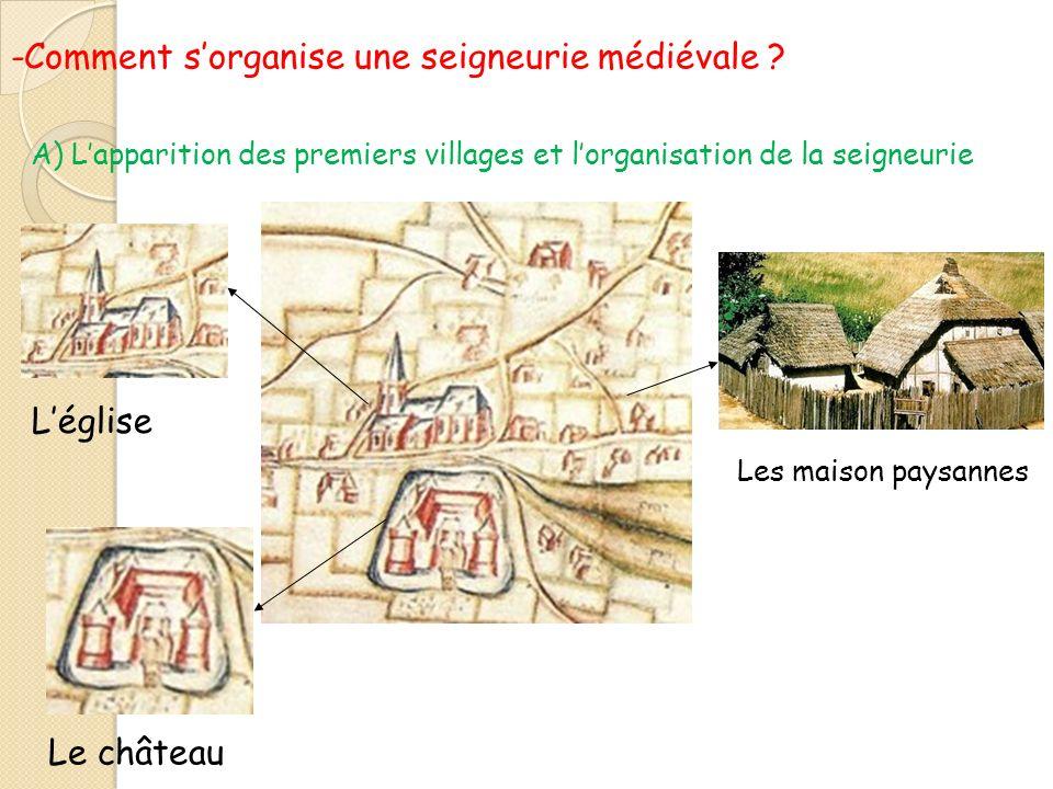 -Comment s'organise une seigneurie médiévale
