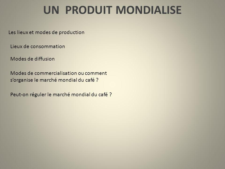 UN PRODUIT MONDIALISE Les lieux et modes de production