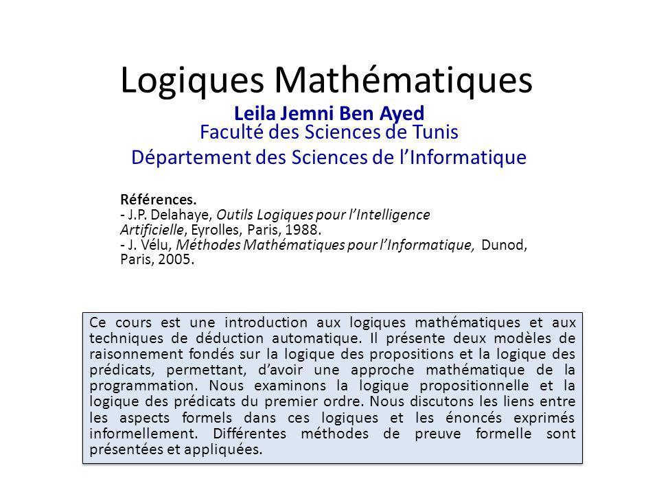 Logiques Mathématiques