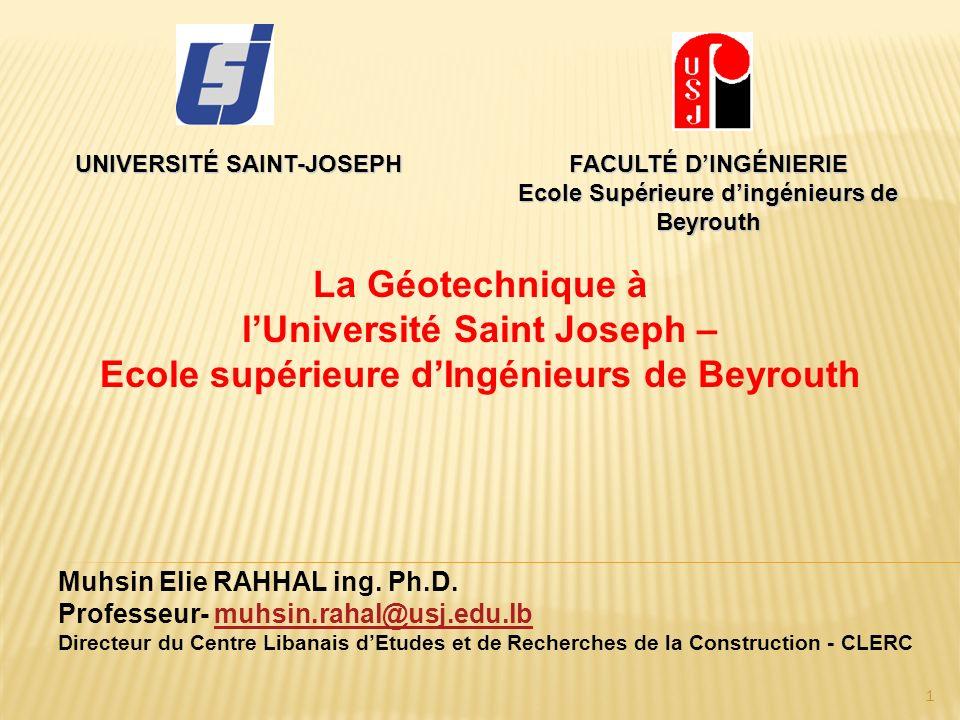 l'Université Saint Joseph – Ecole supérieure d'Ingénieurs de Beyrouth