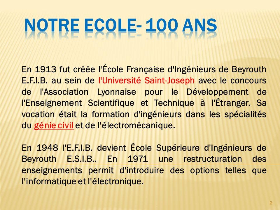 Notre Ecole- 100 ans