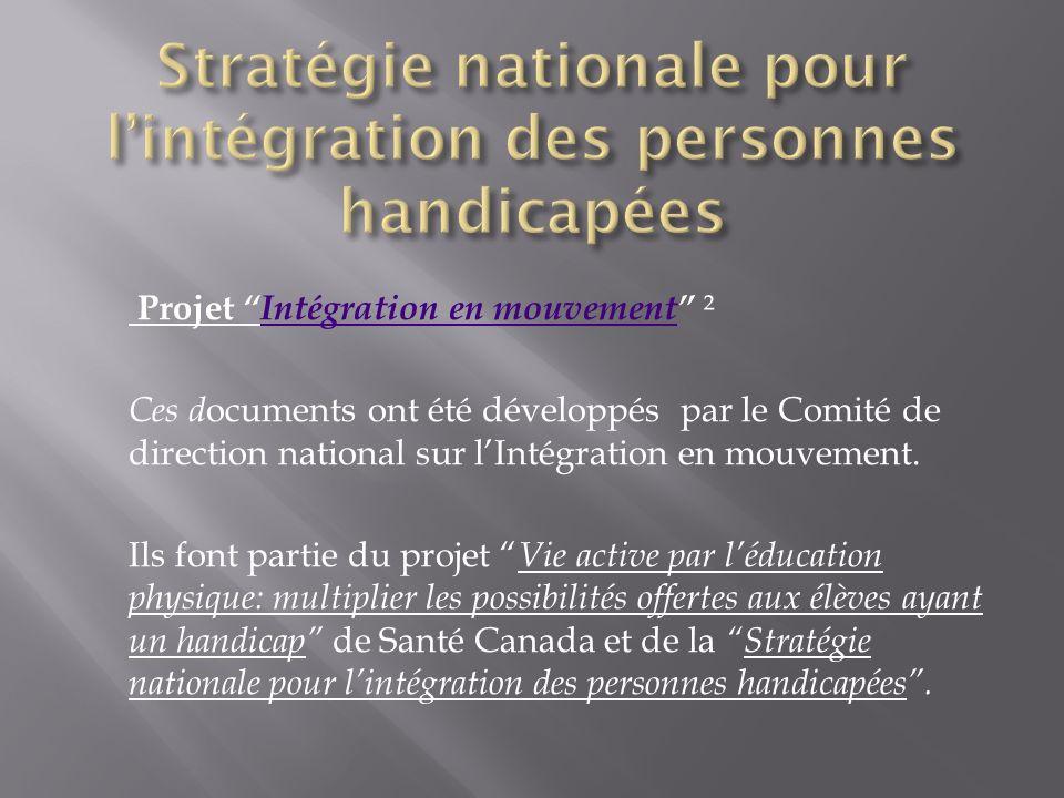 Stratégie nationale pour l'intégration des personnes handicapées