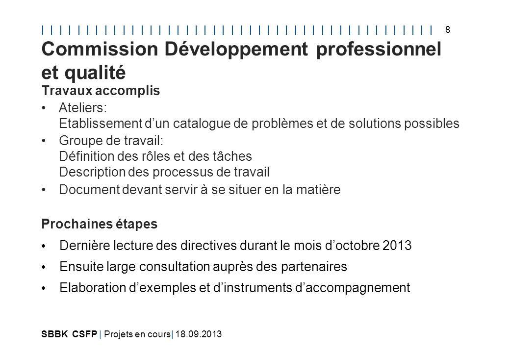 Commission Développement professionnel et qualité
