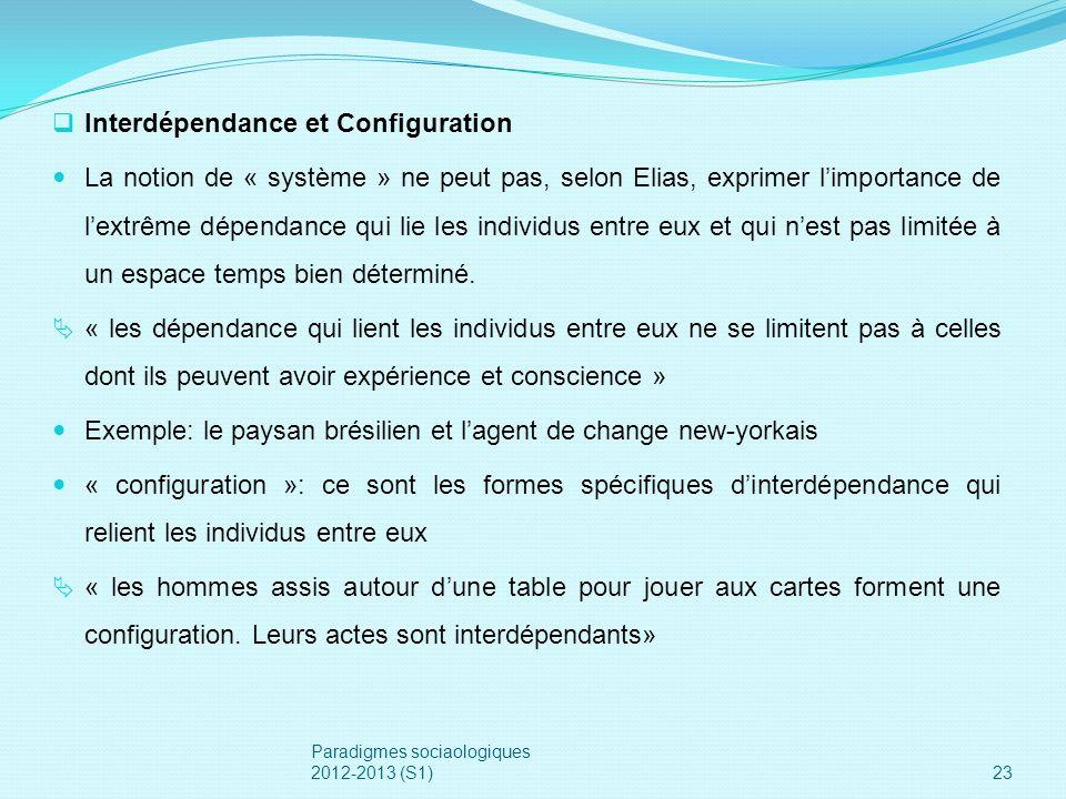 Interdépendance et Configuration