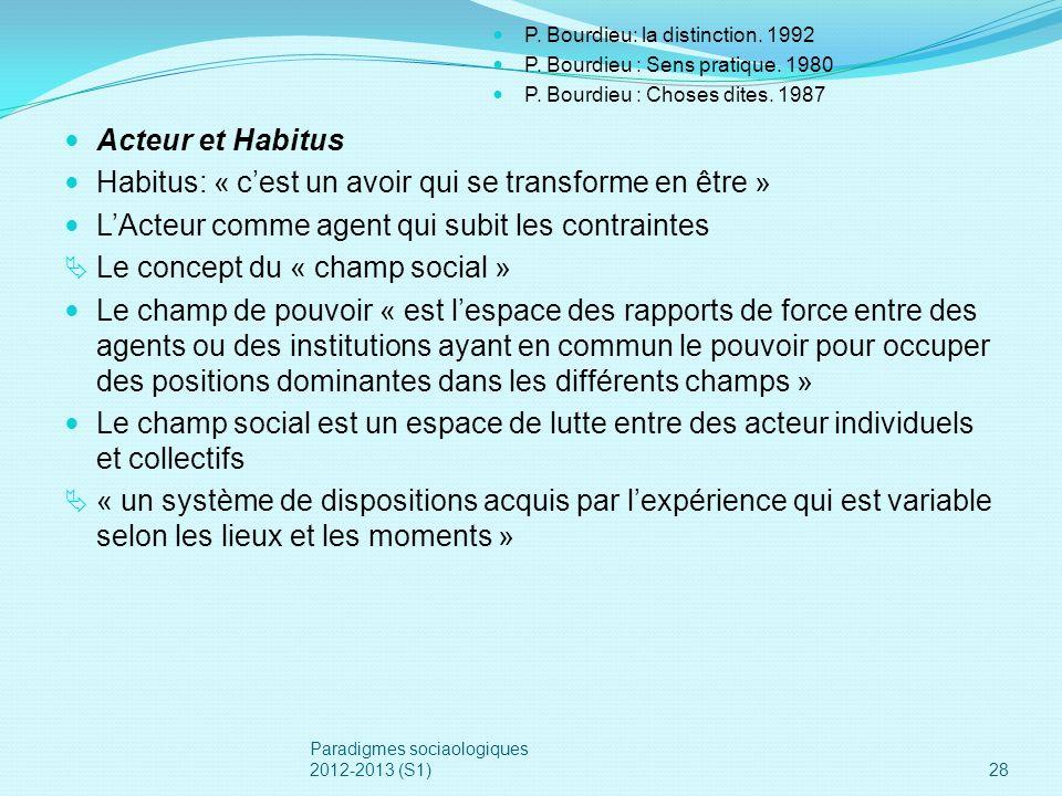 Habitus: « c'est un avoir qui se transforme en être »