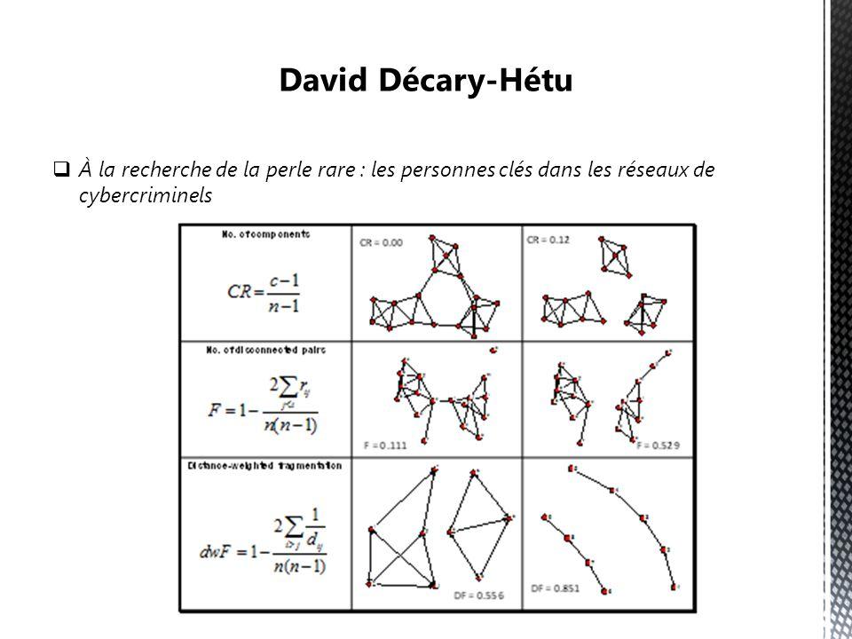 David Décary-Hétu À la recherche de la perle rare : les personnes clés dans les réseaux de cybercriminels.