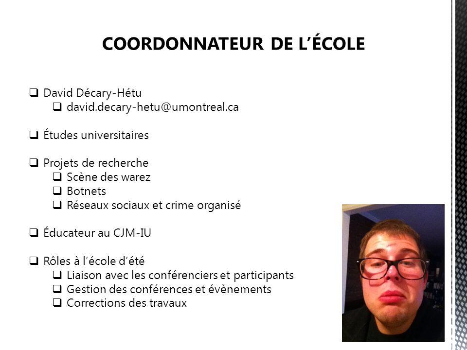 COORDONNATEUR DE L'ÉCOLE