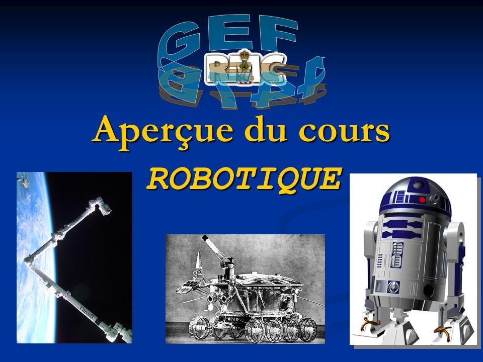 GEF 447B Aperçue du cours ROBOTIQUE