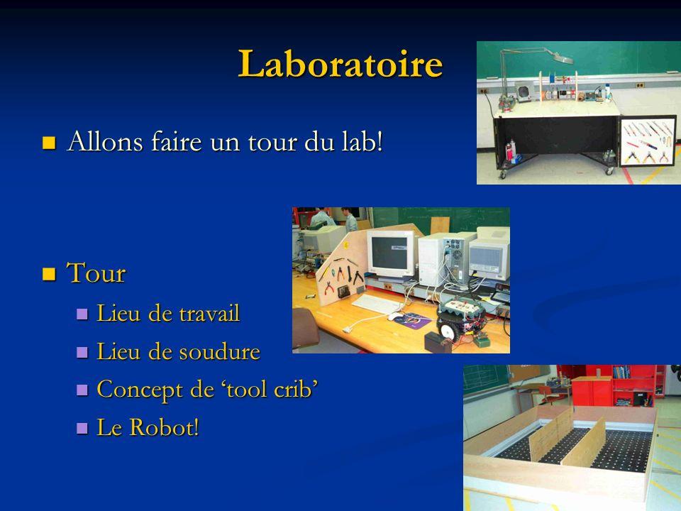 Laboratoire Allons faire un tour du lab! Tour Lieu de travail