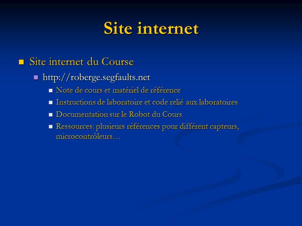 Site internet Site internet du Course http://roberge.segfaults.net
