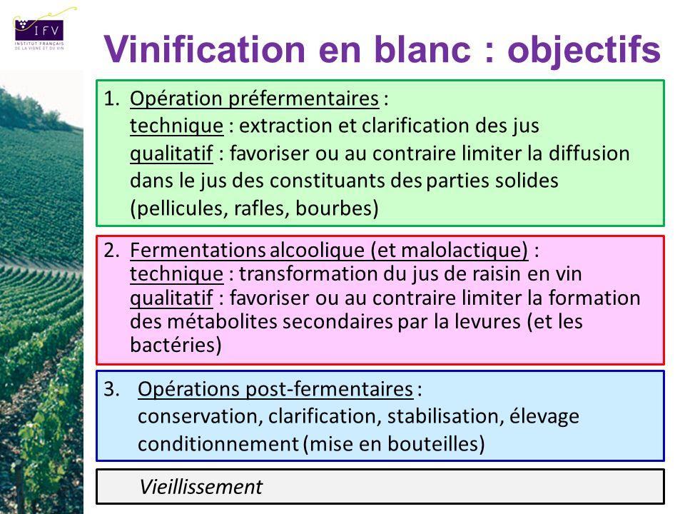 Vinification en blanc : objectifs