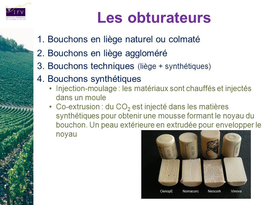 Les obturateurs Bouchons en liège naturel ou colmaté