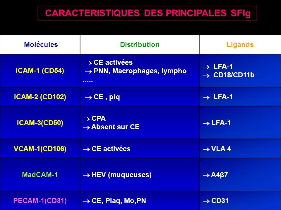 CARACTERISTIQUES DES PRINCIPALES SFIg