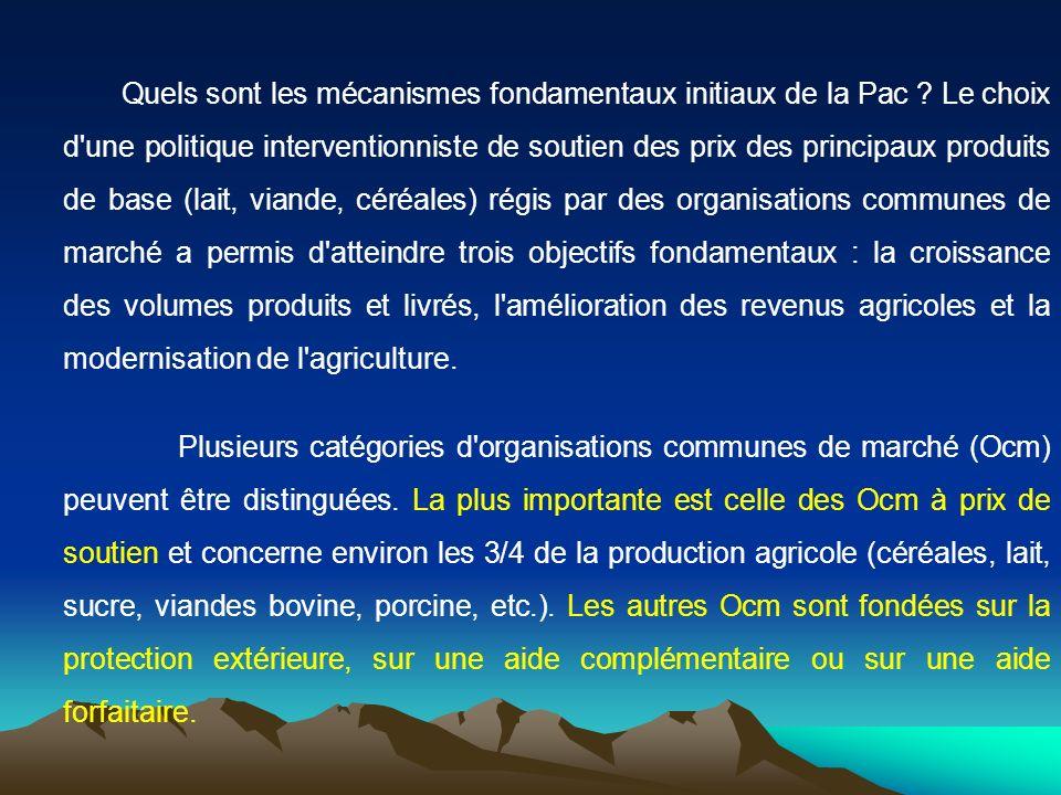 Quels sont les mécanismes fondamentaux initiaux de la Pac