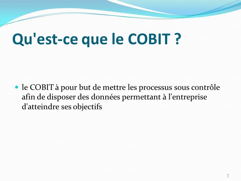 Qu est-ce que le COBIT