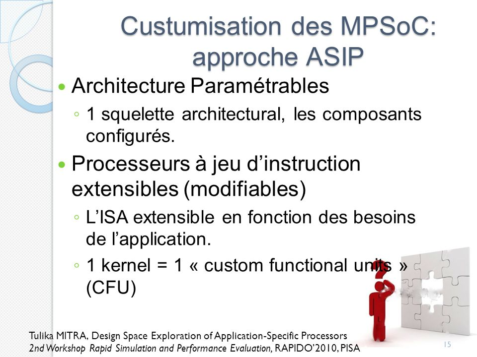 Custumisation des MPSoC: approche ASIP