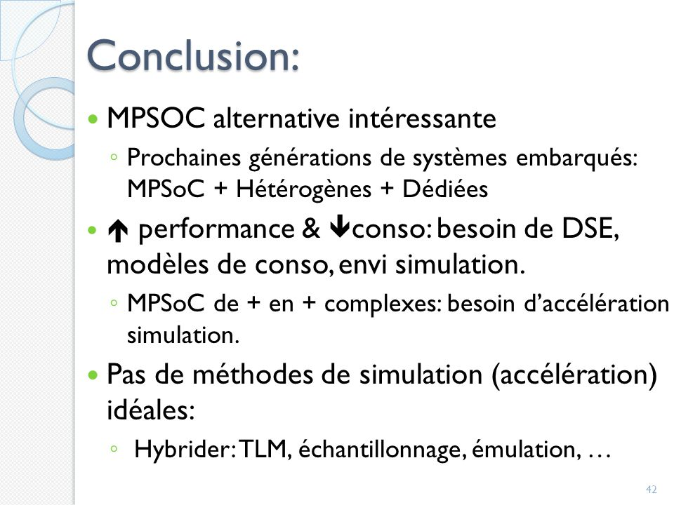 Conclusion: MPSOC alternative intéressante