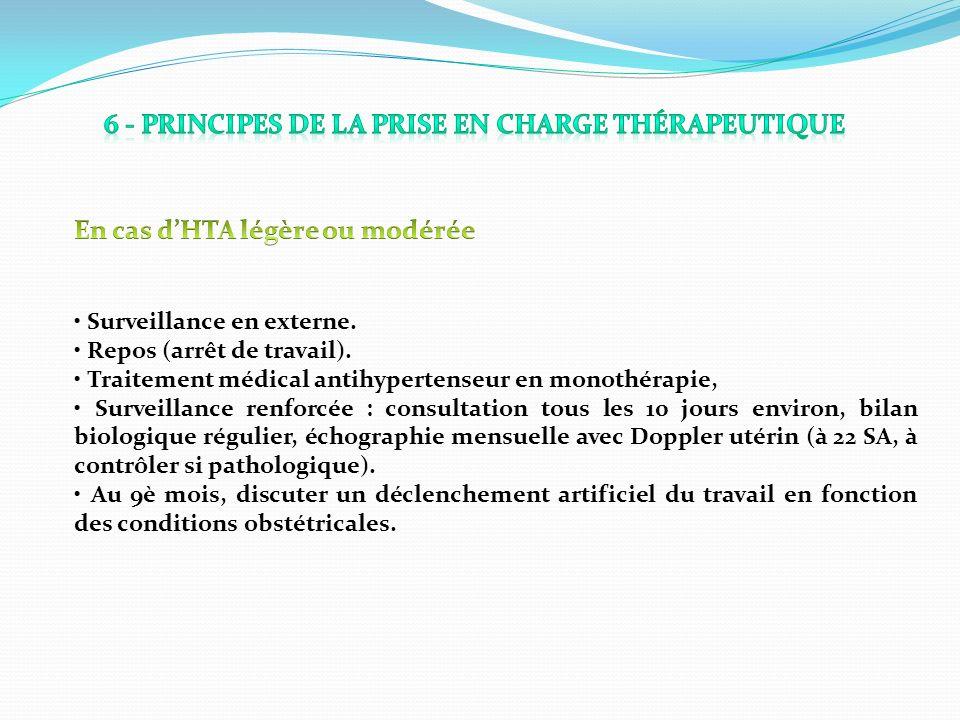 6 - Principes de la prise en charge thérapeutique