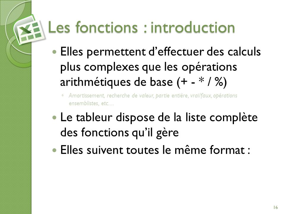 Les fonctions : introduction