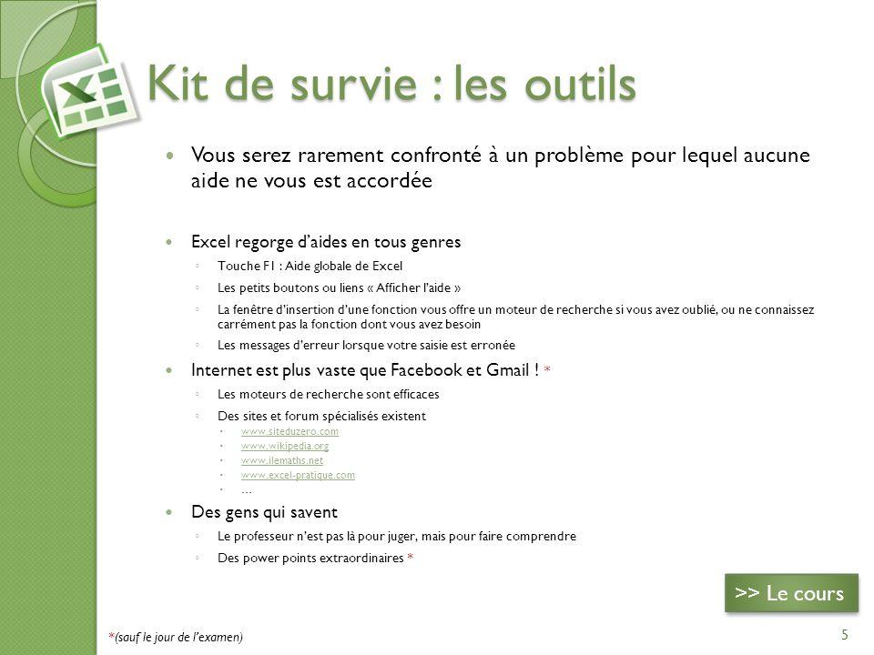 Kit de survie : les outils