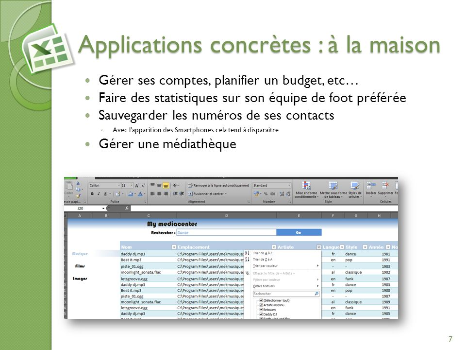 Applications concrètes : à la maison