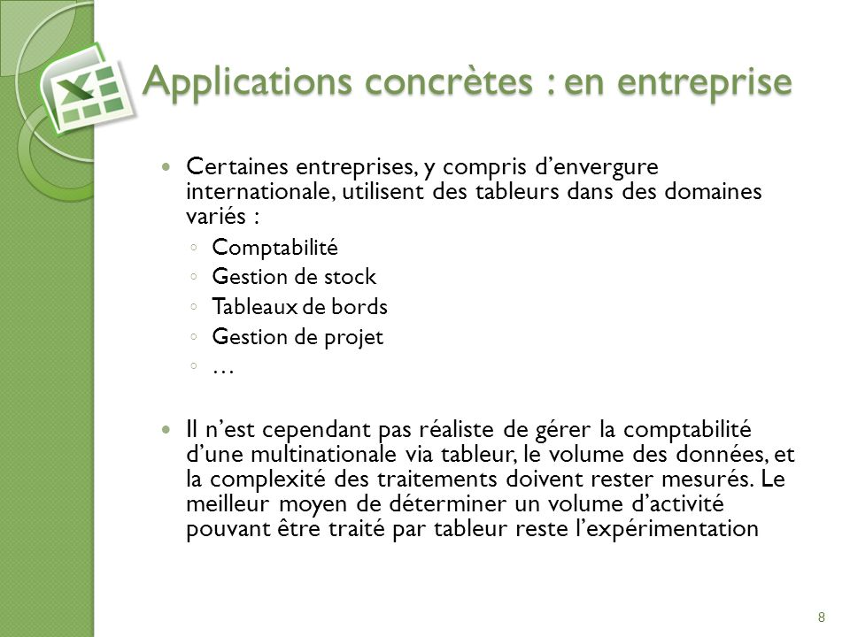 Applications concrètes : en entreprise