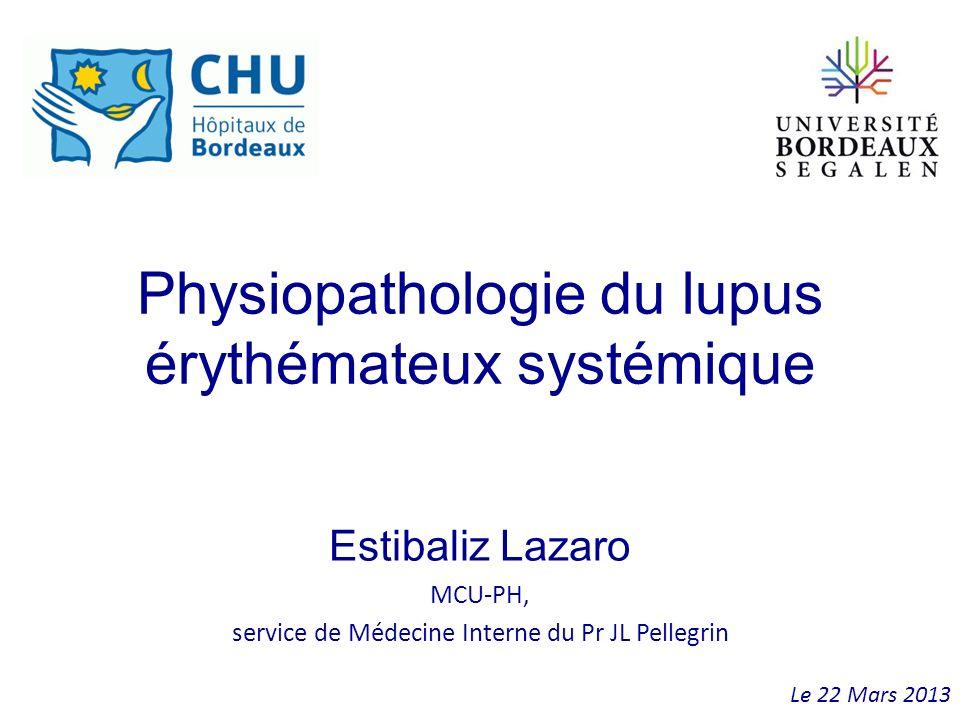 Physiopathologie du lupus érythémateux systémique