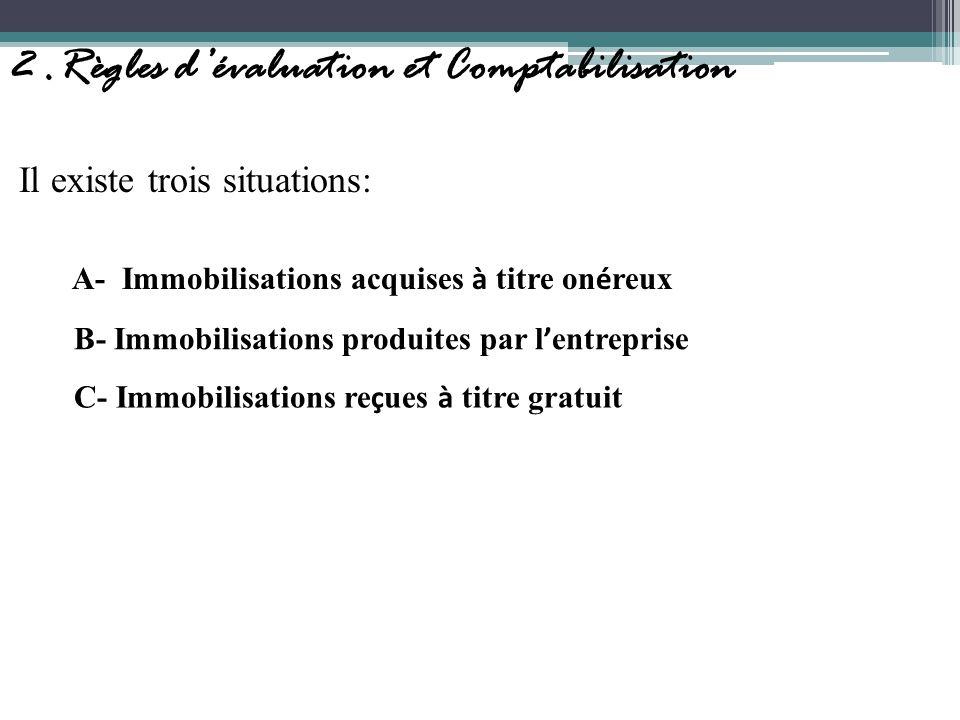 2 .Règles d'évaluation et Comptabilisation