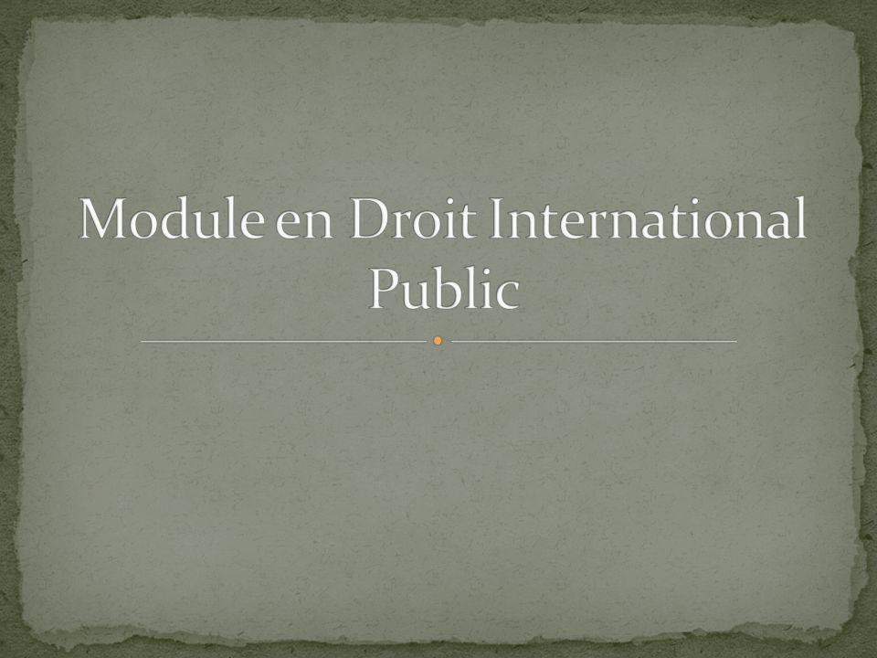 Module en Droit International Public