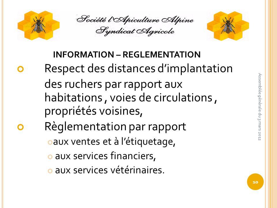 INFORMATION – REGLEMENTATION