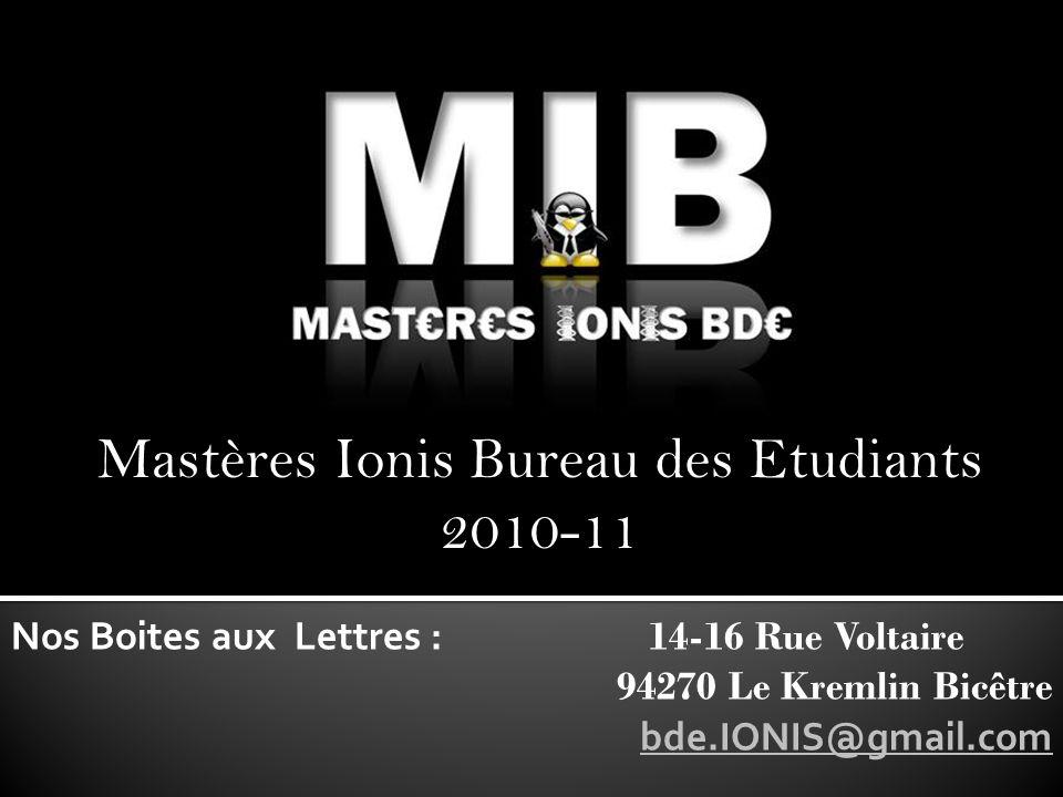 Mastères Ionis Bureau des Etudiants 2010-11