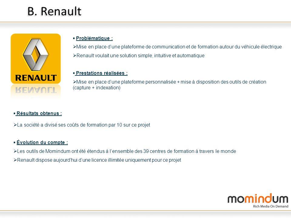 B. Renault Problématique :