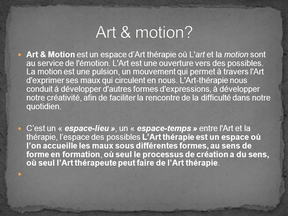 Art & motion