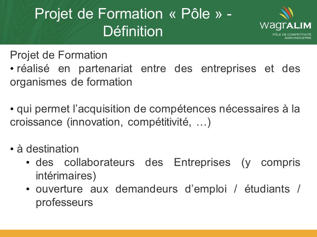 Projet de Formation « Pôle » - Définition