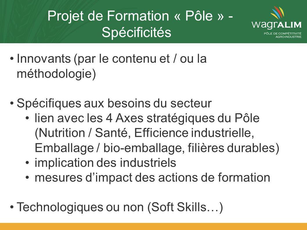 Projet de Formation « Pôle » - Spécificités