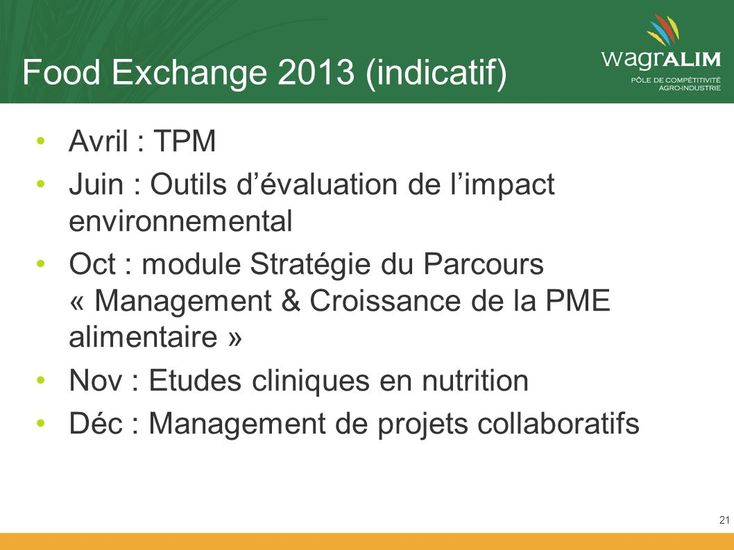 Food Exchange 2013 (indicatif)