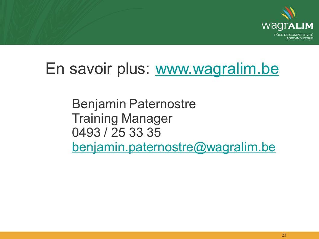 En savoir plus: www.wagralim.be