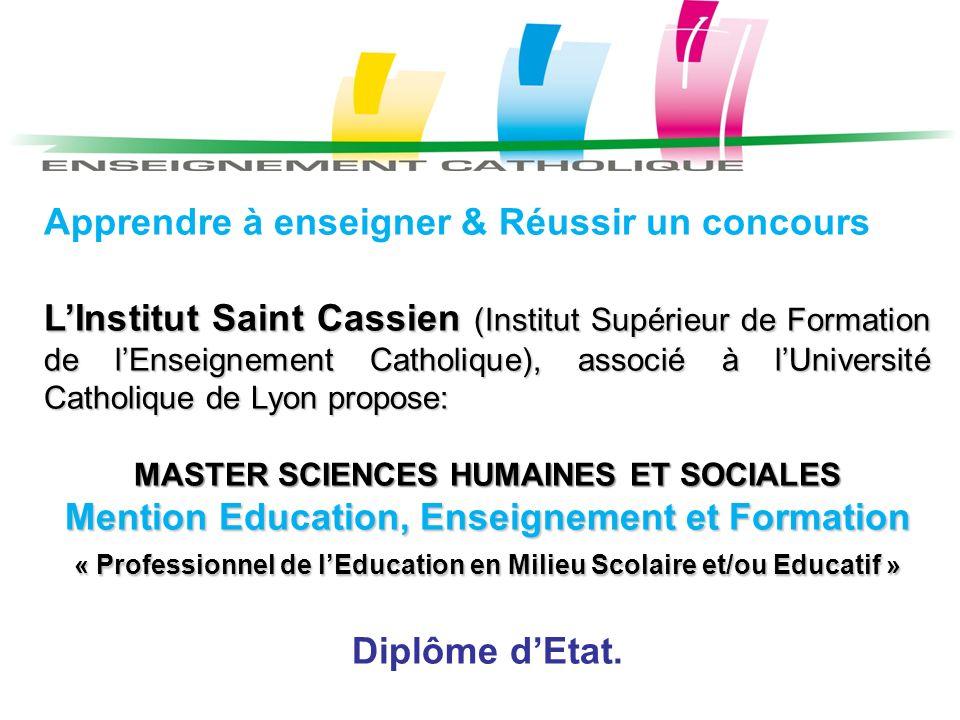 Mention Education, Enseignement et Formation Diplôme d'Etat.