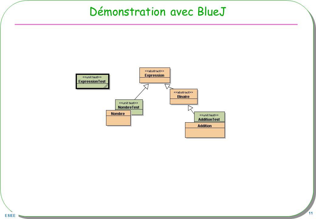 Démonstration avec BlueJ