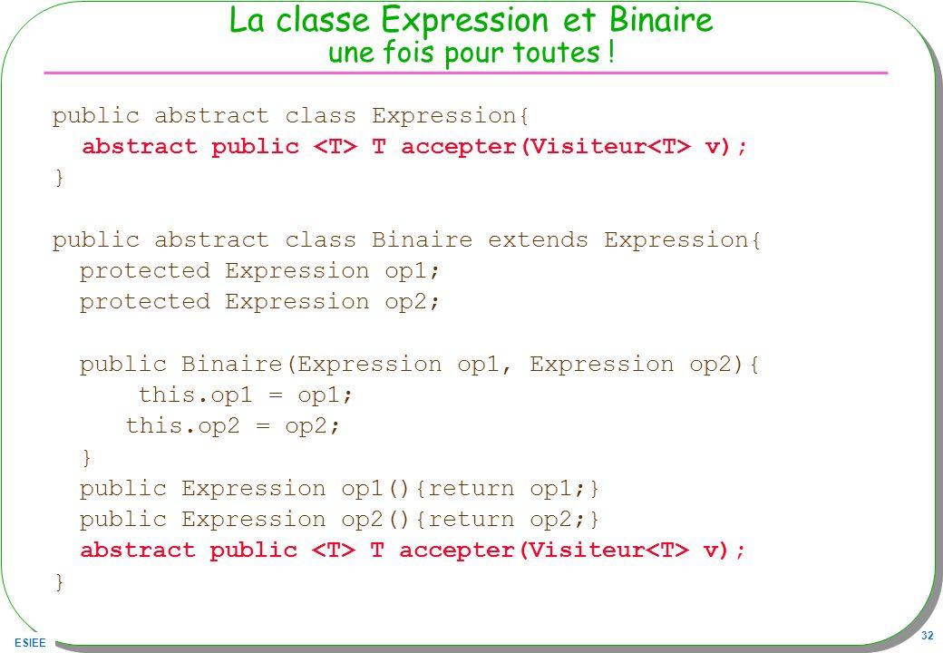 La classe Expression et Binaire une fois pour toutes !