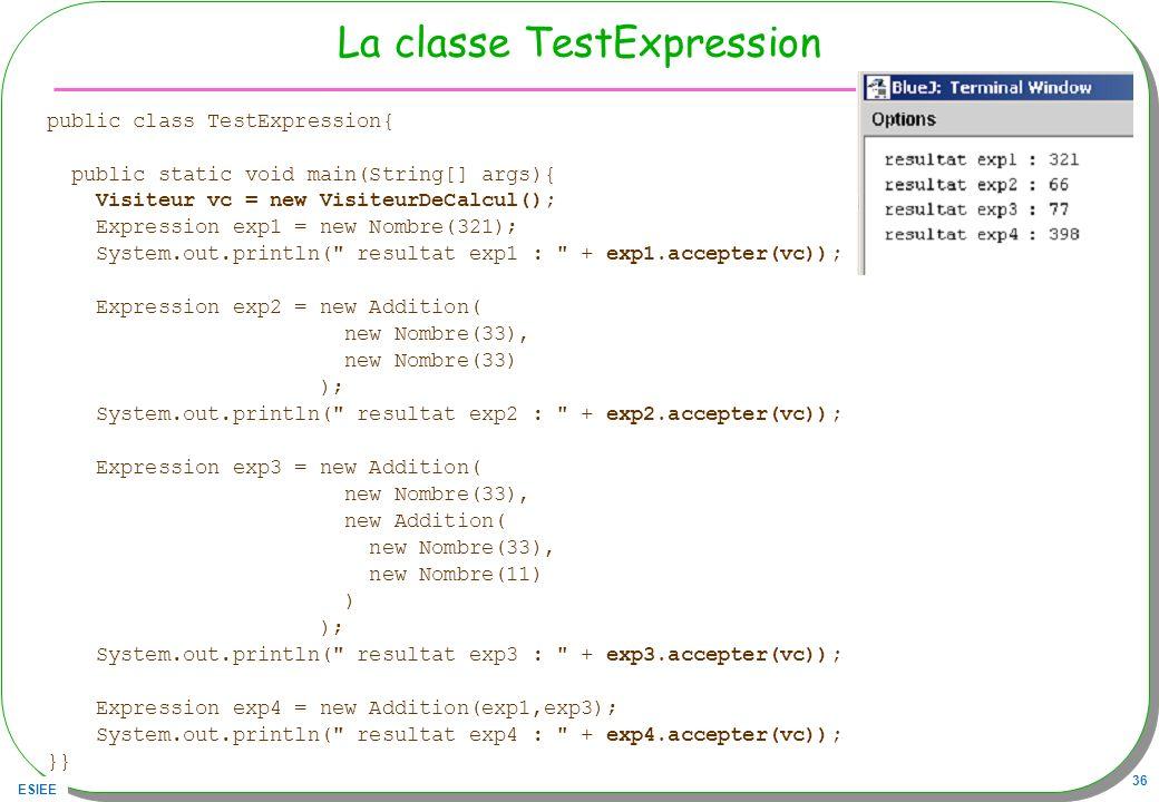 La classe TestExpression