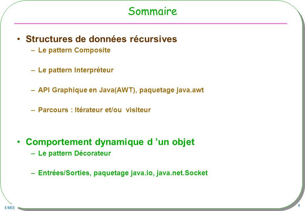 Sommaire Structures de données récursives