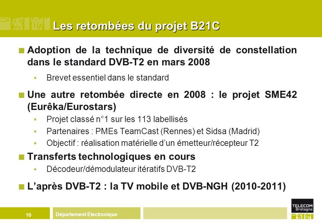 Les retombées du projet B21C