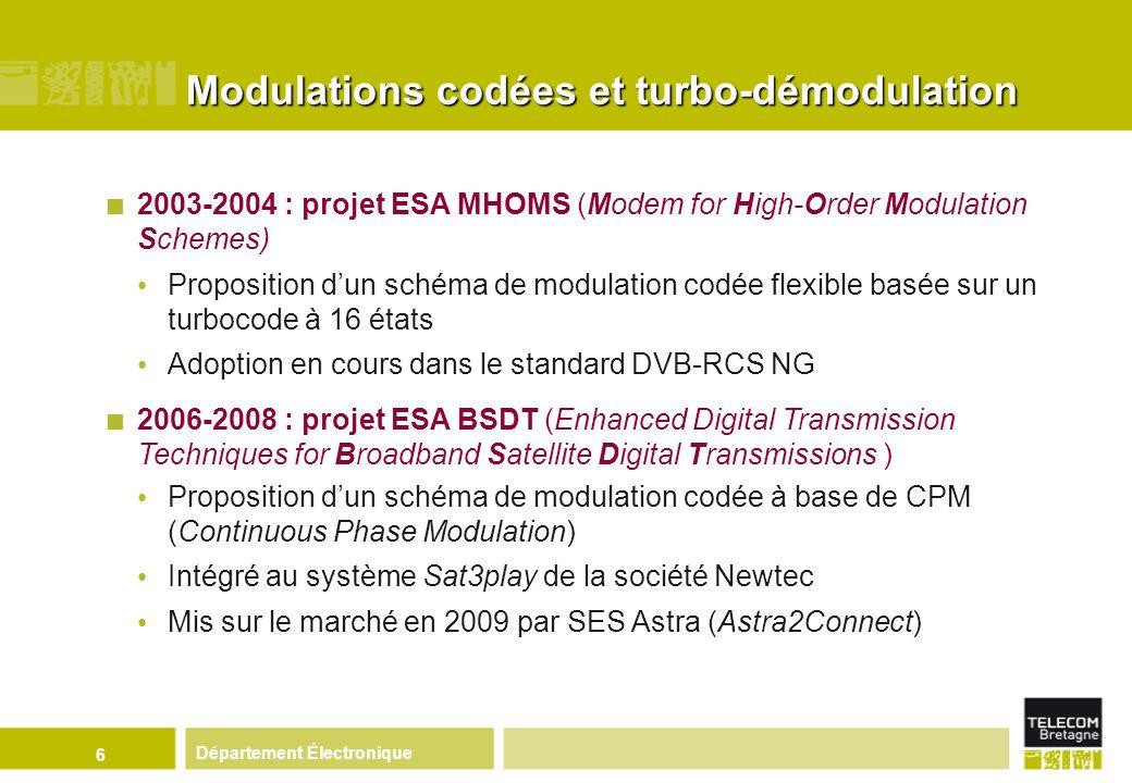 Modulations codées et turbo-démodulation