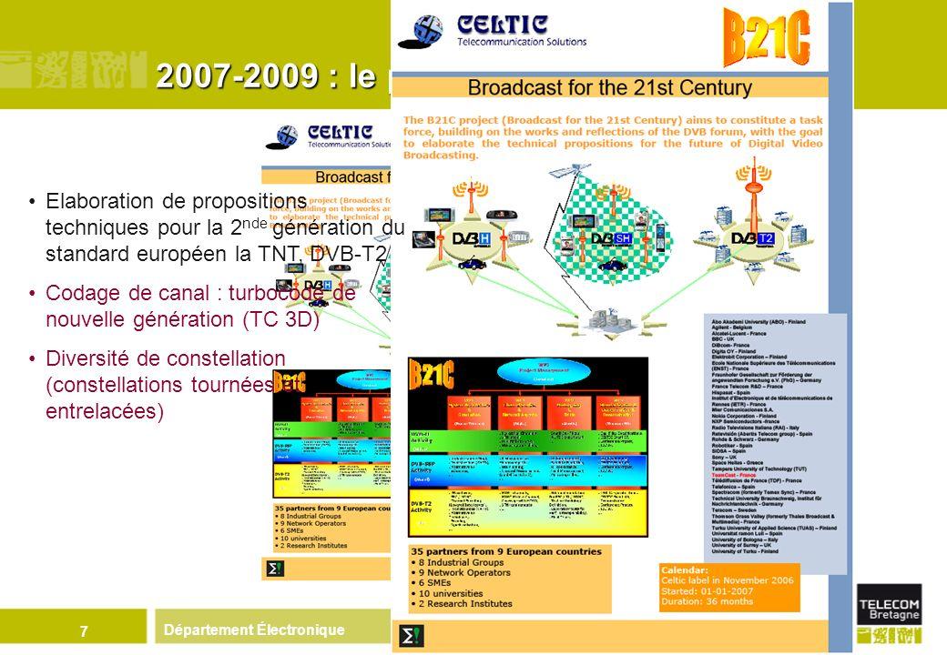 2007-2009 : le projet B21C Elaboration de propositions techniques pour la 2nde génération du standard européen la TNT, DVB-T2.