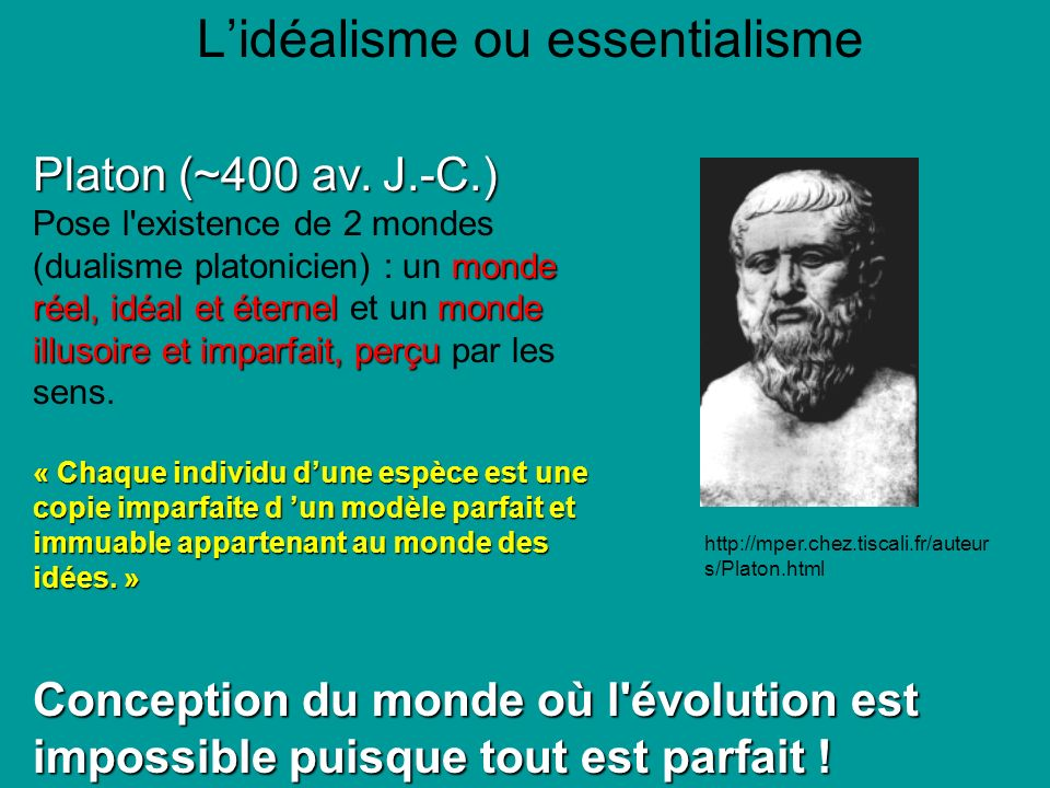 L'idéalisme ou essentialisme
